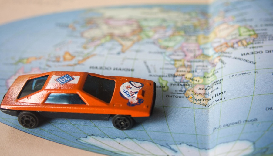 toy, car, world map