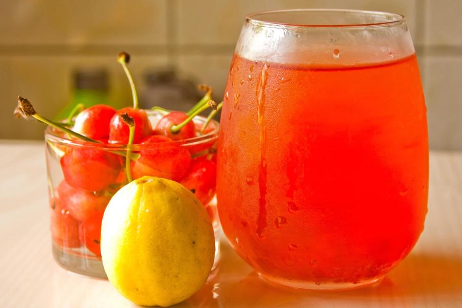 frugtsaft, citron, mad, citrus, søde, glas, frugt, drikke