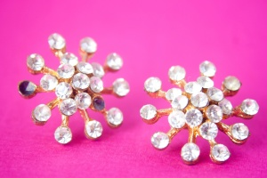 diamond, jewelry, earring, gold, luxury
