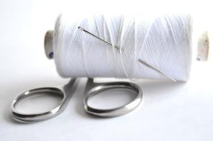 nici do szycia, stal narzędziowa, nożyczki, biały,