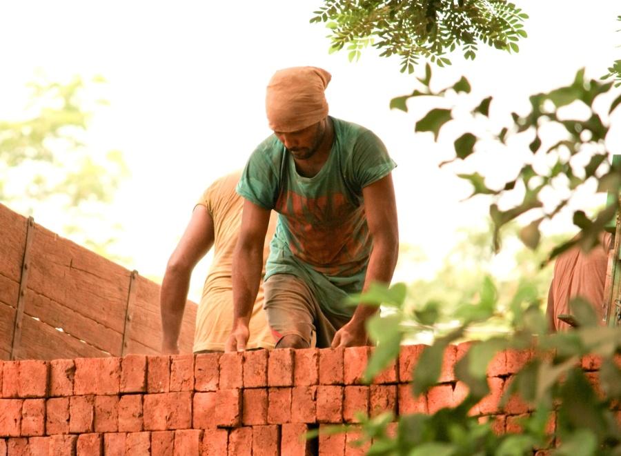 worker, brick, workplace, man, person
