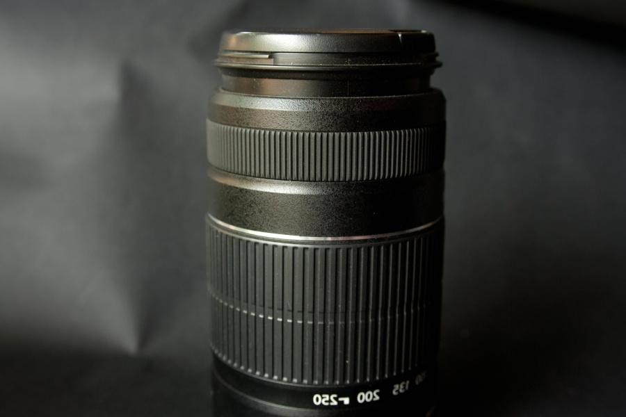 photo camera, lens, black, lens