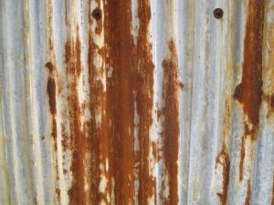 Ruggine, metallo, ruggine, struttura, marrone
