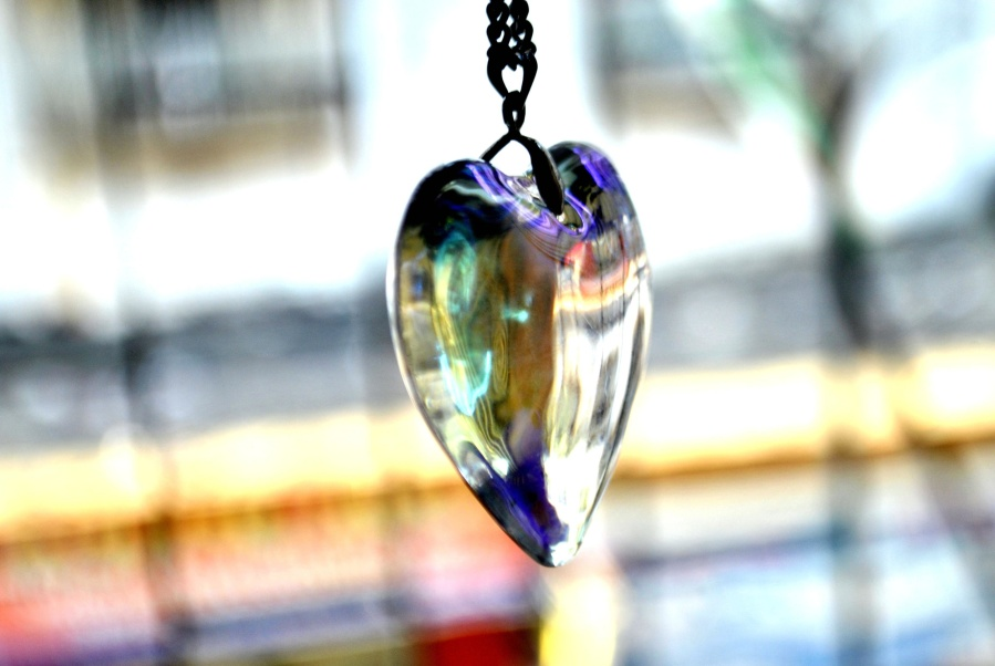 heart, glass, jewelry, object