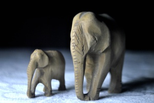 stone, elephant, sculpture, animal, art, Africa