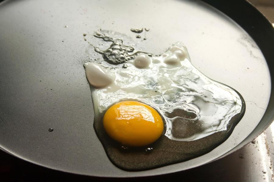 vejce, žloutek, jídlo, snídaně