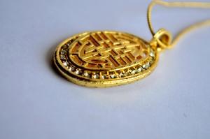 zlato, luxusné, kov, prívesok, šperky
