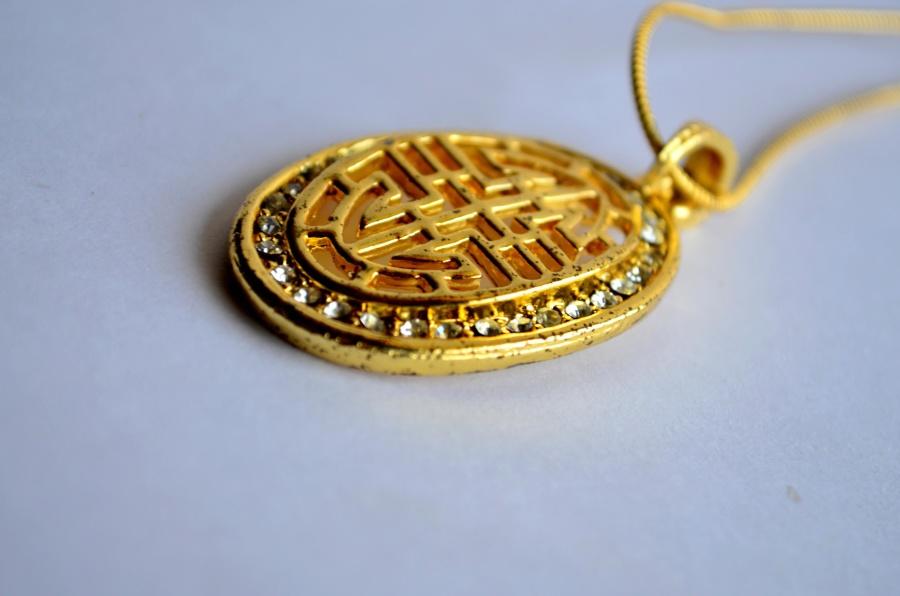 gold, luxury, metal, pendant, jewelry