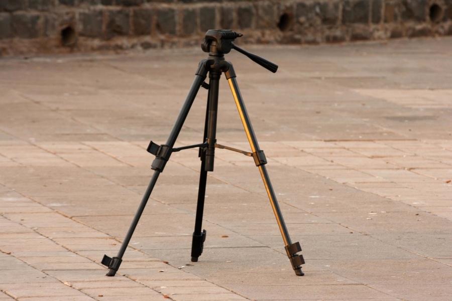 photo camera, tripod, equipment