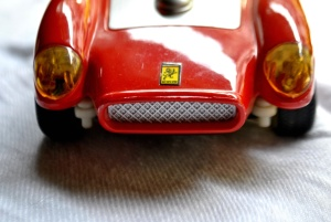 red, toy, car, plastic, headlight