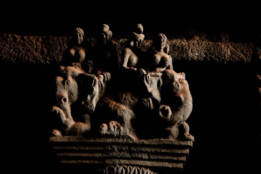cave, silhouette, art, black, sculpture,design