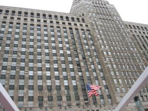 vlajka, budova, exteriér, město, architektura, městský, moderní, centra, tower, stavebnictví