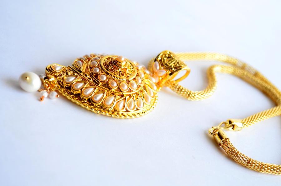 Perle, Halskette, Gold, Schmuck
