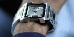 mão, relógio de pulso