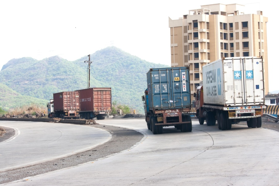 truck, transport, road, vehicle, cargo