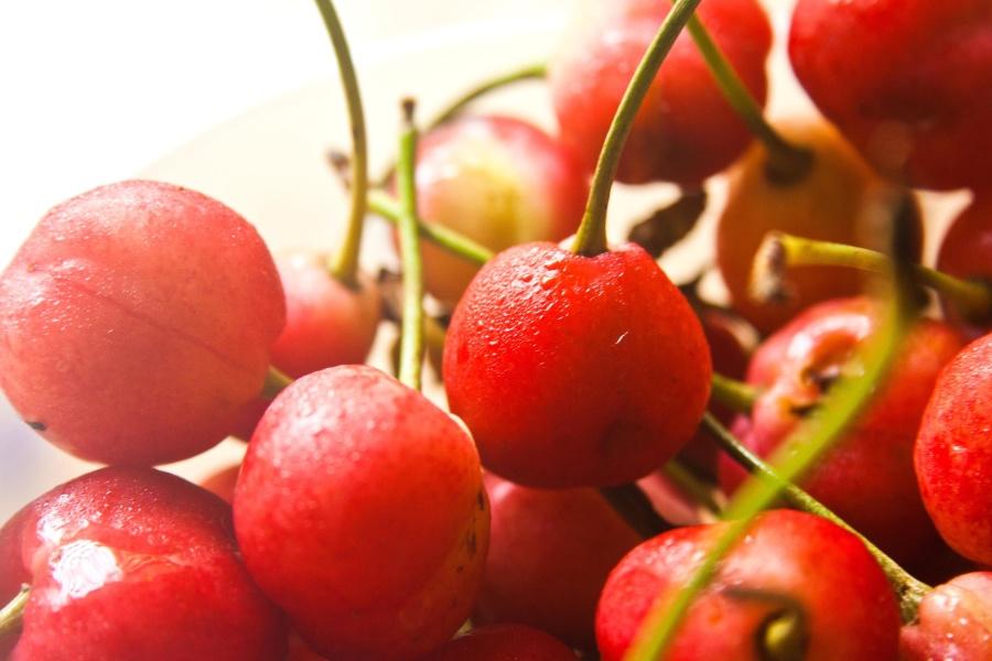 red, cherry, fruit, sweet, food, diet, dessert, vitamin