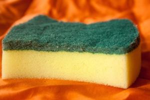 scrubbing foam, sponge, object, tool