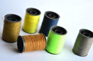 Verde, color, hilo, coser, herramienta, objeto