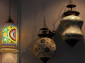 lantern, light, object, colorful, shadow