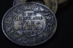 Stare, metalowe monety, pieniądze, antyk