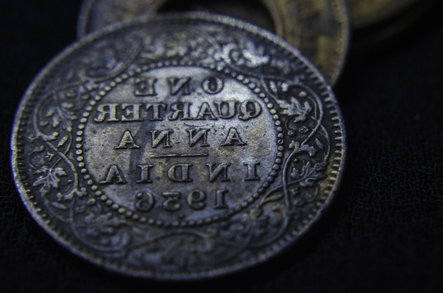 old, metal coin, money, antique, object