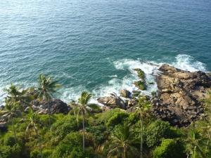 bølge, ocean, shore, vand, strand, kystlinje, landskab, øen, sky