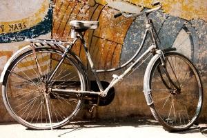 Polkupyörä, antiikki, metalli, ruoste, objekti