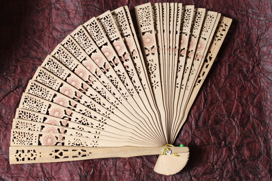 object, hand fan, art, wood, design