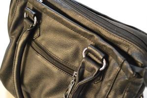 Negro, bolsa, moda, cuero, objeto, cierre