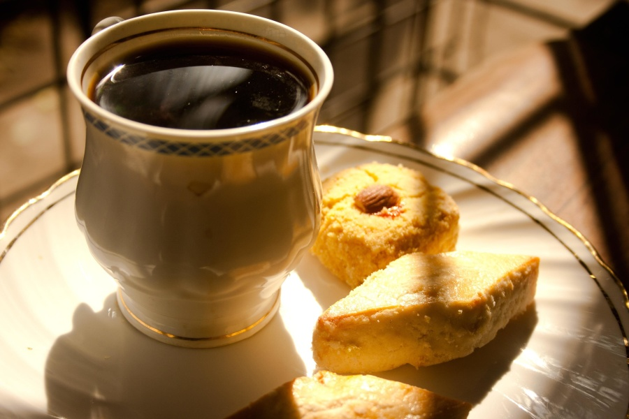 coffee, cookie, mug, drink, espresso, breakfast