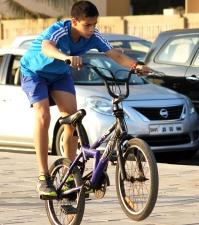 barn, glädje, cykel, cykel, urban stad