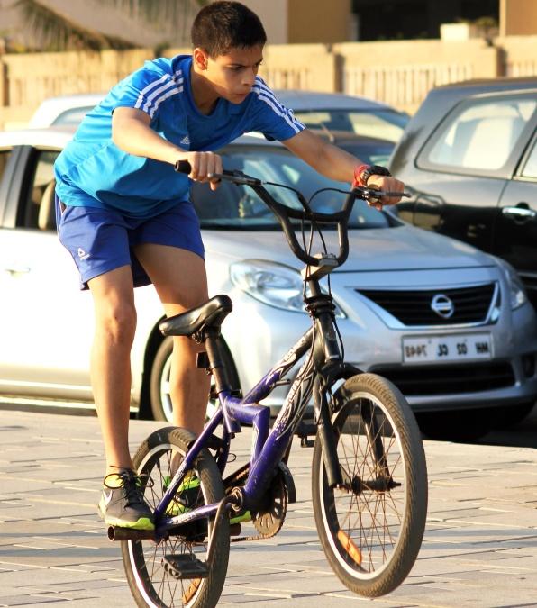 child, bicycle, urban, town, joy, bicycle
