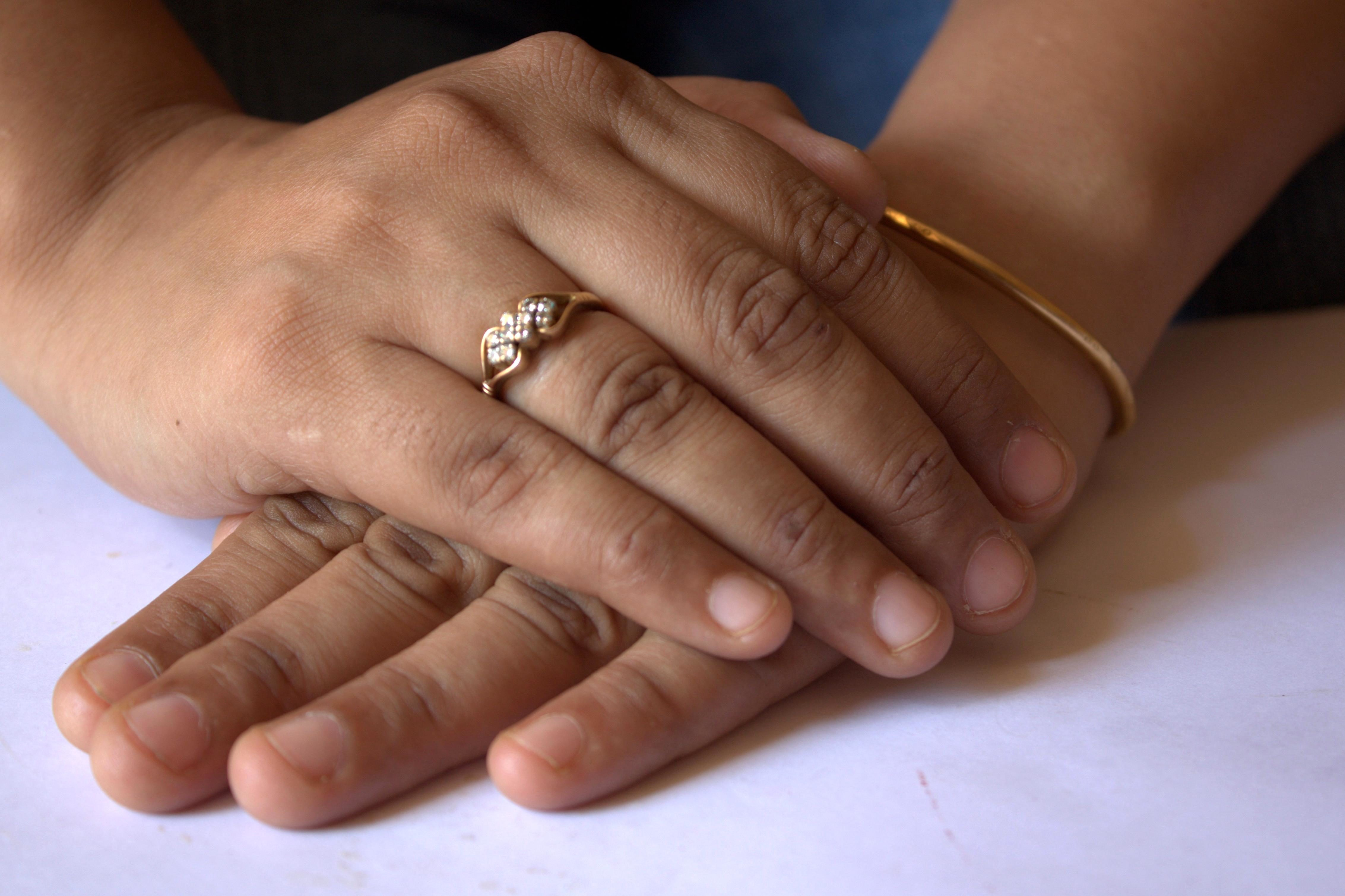 Free Picture Hand Finger Engagement Ring Skin