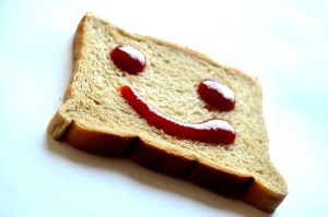 smile, emotion, bread, food, toast, food, meal, delicious