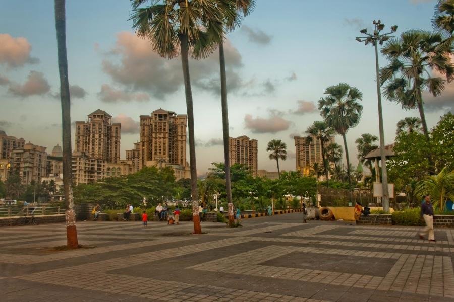 India, downtown, park, city, architecture, tourism
