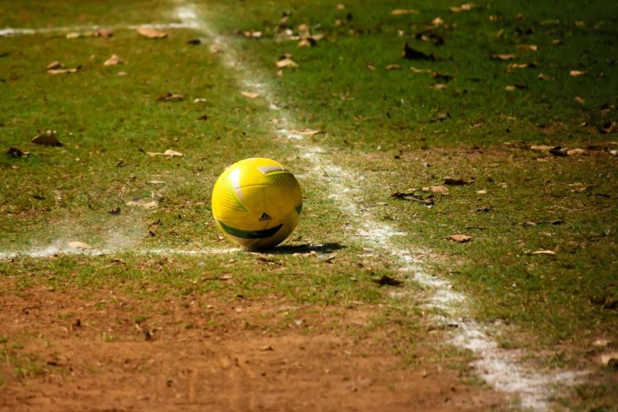 football, sport, grass, soccer, ball, equipment