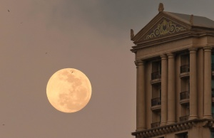 moon, moonlight, architecture, building, sky, dusk, day