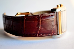 wristwatch, leather, object, gift, brown, antique