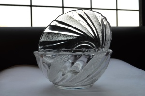bowl, glass, vase, crystal, object, transparent