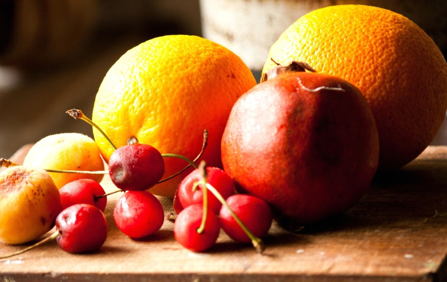 oranžové plody, jedlo, granátového jablka, vitamínu, hruška, citrusové, lahodné, cherry, sladké