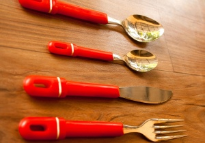 alat, kućanski predmeti, ručni alat, žlicu, nož, vilica