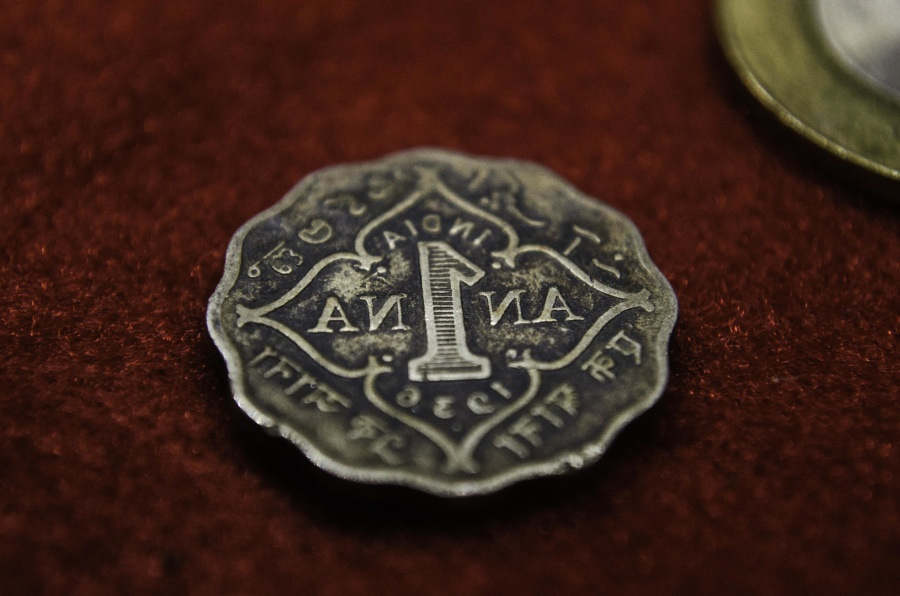 metal coin, India, metal, antique, ancient, cash, money