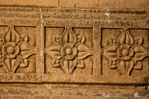 flower, pattern, statue, wall, sculpture, art, ancient, antique, stone