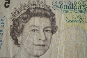 Dinero, inglaterra, papel, billete, econnomy