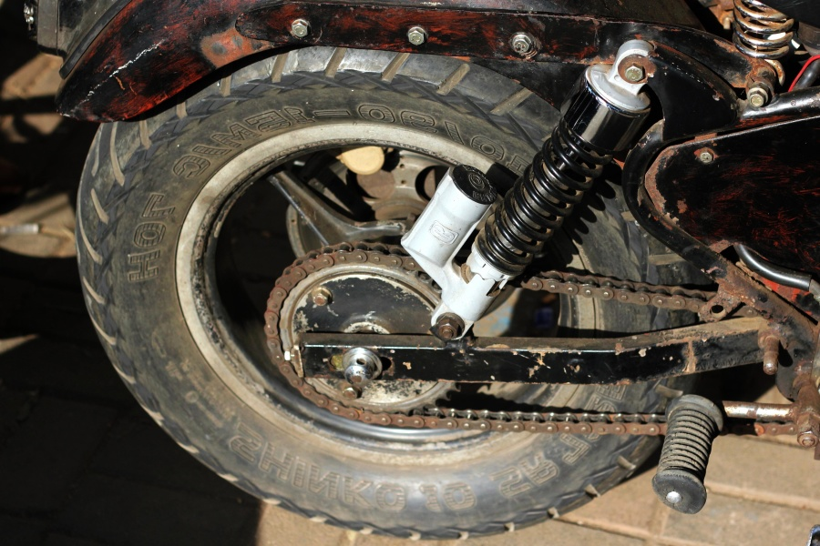 motorcycle, oldtimer, wheel, metal gear, mechanism, vehicle
