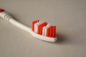 red, toothbrush, closeup, plastic, object