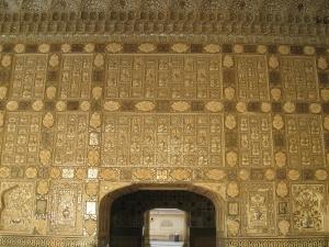 Golden Gate, Palast, Indien, Architektur, Stein, Wand, Struktur