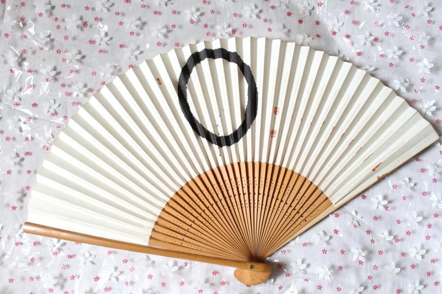 hand fan, Japan, art, object, design, graphic, shape, pattern