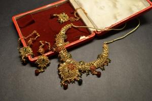 Contenitore di monili, monili, collana, decorazione, oro, lusso
