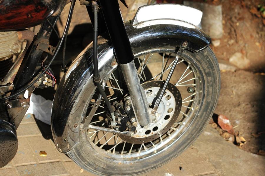 motorcycle, wheel, brake, engine